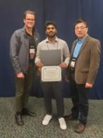 Ph.D. student Mukesh Ramancha awarded the best paper award at the Society of Experimental Mechanics IMAC 2020 conference